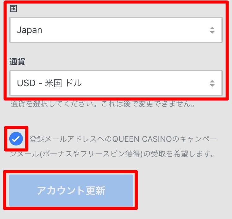 クイーンカジノ登録画面6